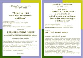 Roma 10-11 nov: due giornate di laboratori per organizzare reti